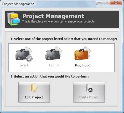 Easy project management.