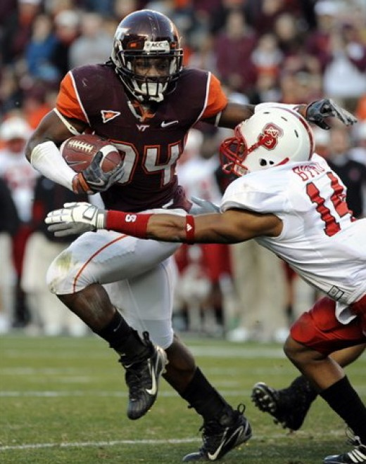 RB Ryan Williams   Virginia Tech