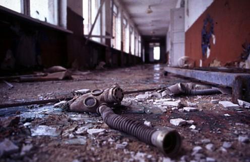 """deserted secondary school near Chernobyl"" credit-mrbisson via bored panda"