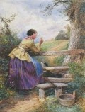 Myles Birket Foster, 'Waiting for Father' from macconnal-mason.com
