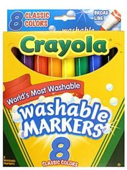 Crayola Washable Art Markers for kids and adults who like to color.