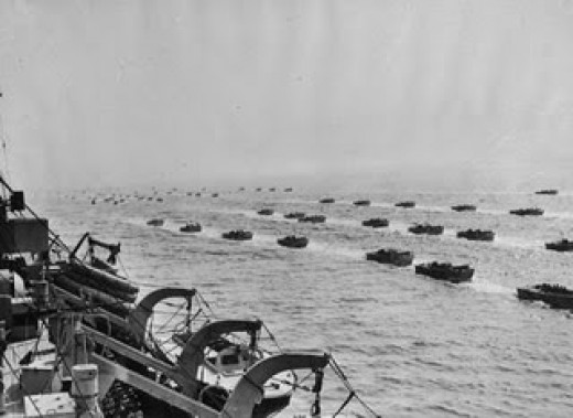 Invasion on the Normandy Beaches, D-Day 6th June 1944 D Day Invasion Boats