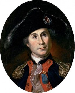 John Paul Jones by Charles Willson Peale, c1781. John Paul Jones was a terror along the English coast forcing the British to keep war ships at home to protect the English coast line.