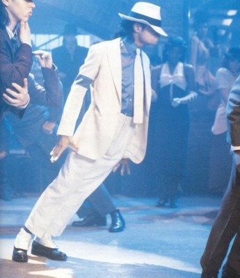 Michael Jackson in the video -Smooth Criminal
