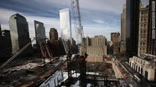 How the Mosque would tower over the WTC site (just center left of crane)