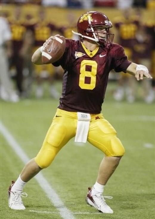 QB Adam Weber  Minnesota