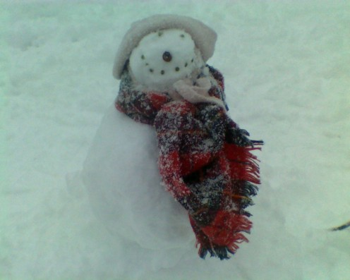 Sally the Little Snow Girl made by Cosette and her Mama
