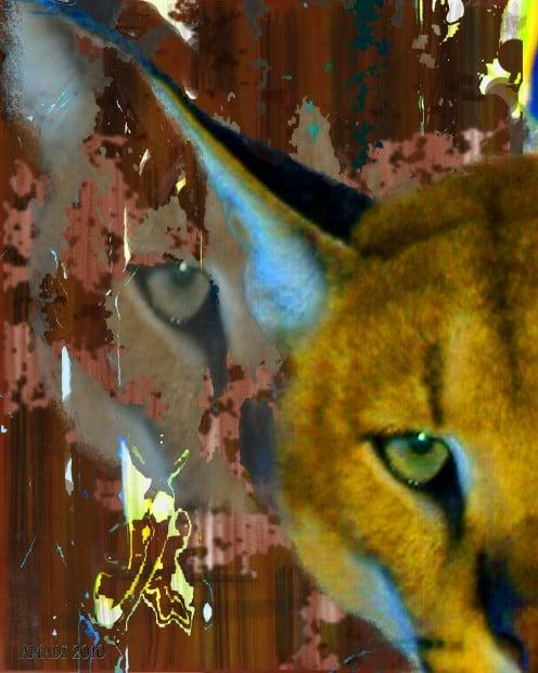 "Big Cat Exotic Animal Art ""Watching Wild"""