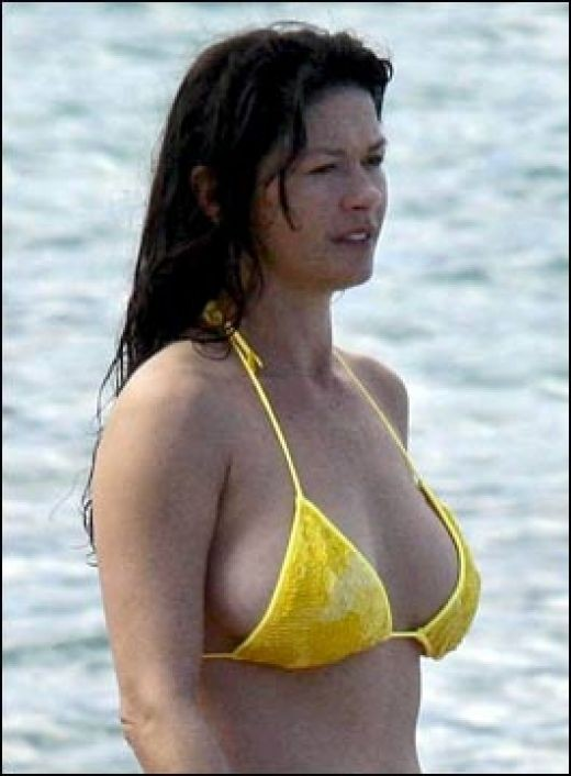 CATHERINE ZETA-JONES YELLOW BIKINI