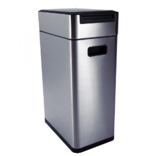 Oxo Good Grips Touch 10-1/2-Gallon Garbage Can, Brushed Stainless Steel