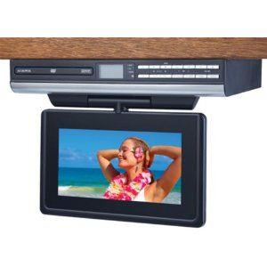 Audiovox VE927 9-Inch LCD Drop-Down TV with Built-In DVD Player and Clock Radio