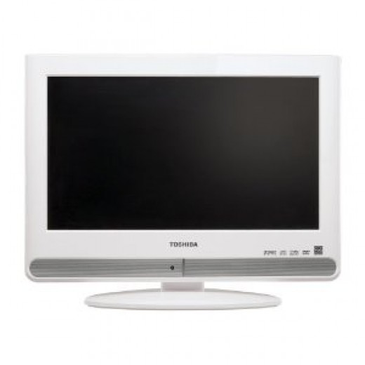 Toshiba 15LV506 15.6-Inch Widescreen LCD TV with Built in DVD, White
