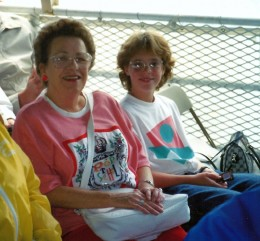 My mother and niece aboard the Grayline tour boat