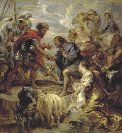 Rubens: Reconciliation of Jacob and Esau Genesis 33: Oil on panel, at the National Galleries of Scotland GeneG