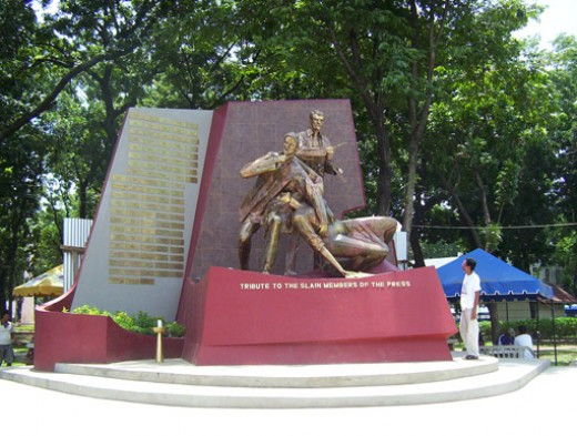 """A Tribute to the Slain Members of the Press"" The Press Freedom Monument by Eduardo Castrillo"