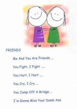 Cute Friendship Poems