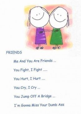 Cute best Friend Poem