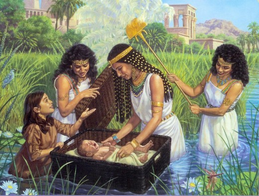 Baby Moses in the Bulrushes, from narkas.org