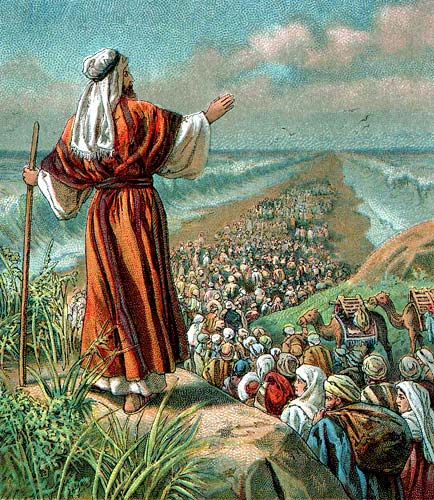 Israelites crossing the Red Sea, from preceptaustin.org