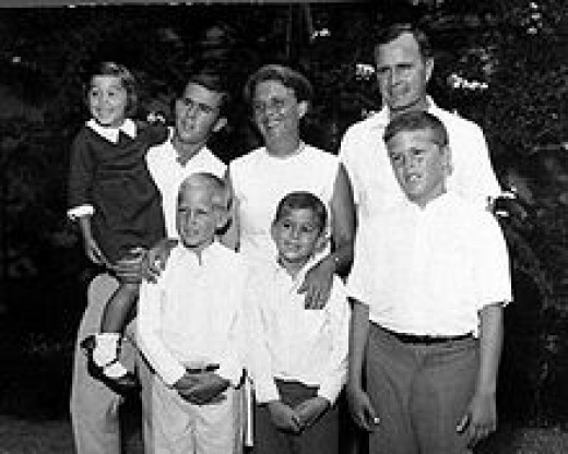 The entire Bush Family in the 1960's  Photo courtesy of Wikipedia