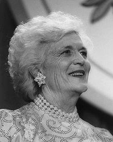Barbara Bush  Photo courtesy of Wikipedia