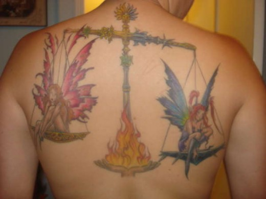 Libra (September 23-October 22) and the next of my Zodiac Tattoos is this