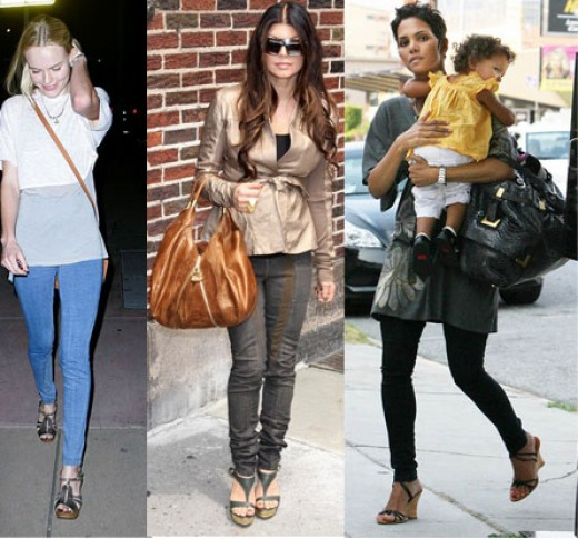 Kate Bosthworth,Fergie & Halle Berry in Jeggings
