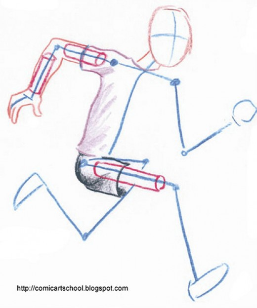 Don't run like a stick figure without a soul.  Hurrying slowly is the way to do it.