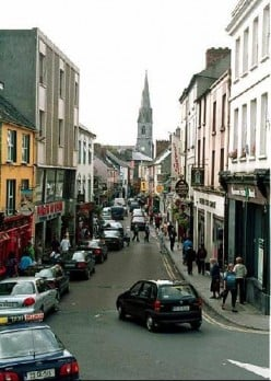 The crowded streets of Ennis