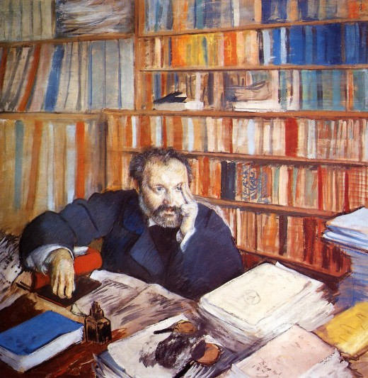 There is no substitute for study for passing your exams (Painting by Edgar Degas Portrait of Duranty)