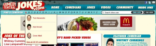 jokes.com is a product of the Comedy Central TV Channel