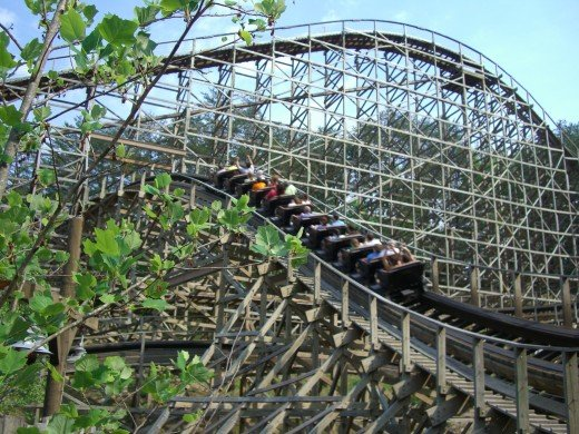 Thunderhead Rollercoaster at Dollywood