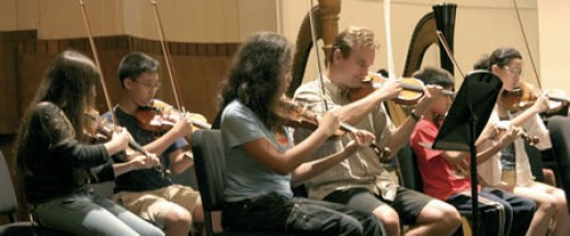 Students at the Manhattan School of Music
