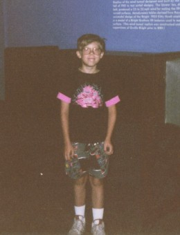 Yeah, that's me. Rest assured, I was arrested by the fashion police immediately after this was taken.
