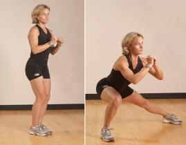 Try side lunges to tone your legs