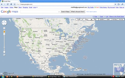 Top level map with Google Maps de-localized