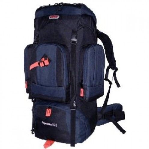 NEW CUSCUS 7500ci Internal Frame Hiking Camp Backpack Travel Bag- Navy/Black