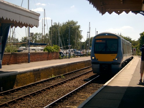 Regular trains throughout the day at Woodbridge Train Station.