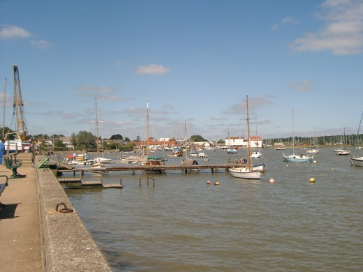 The river Deben at high tide in Woodbridge