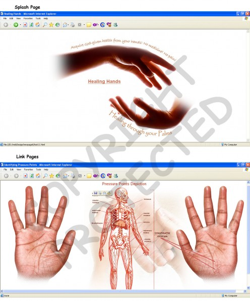 These Web Templates I created back in 2006. I had to use these clip art pieces to give a caring and holistic feel, and also to give the browser a feeling of trust when resorting to some healing methods online.  (c) rembrandz.com