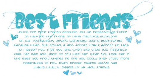 Cute best friend poems