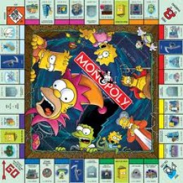 Simpson Monopoly Game Board