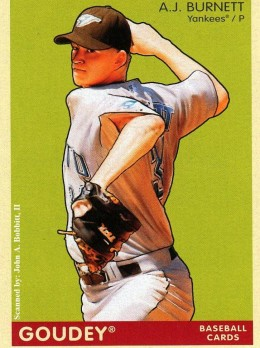 2009 Upper Deck Goudey #129 A.J. Burnett, New York Yankees