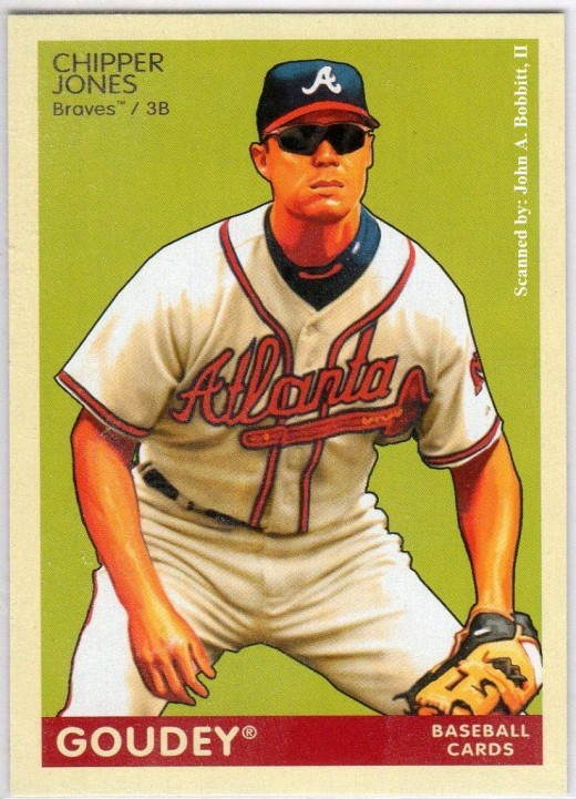 2009 Upper Deck Goudey #13 Chipper Jones, Atlanta Braves