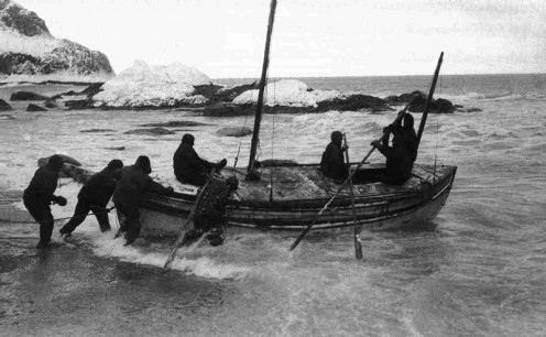 Launch of the James Caird