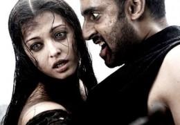 Aishwarya Rai Bachan & Abhishek Bachan as Ragini and Beera