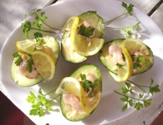 Avocado with Shrimps
