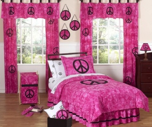 Peace Sign Bedding and Bedroom Decor