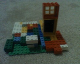 Lego house with yard