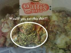 Gattis Pizza Dirty Pizza Complaint